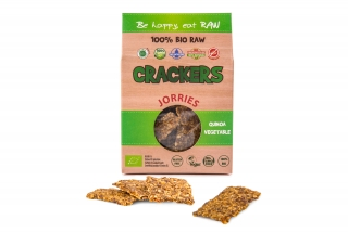 Jorries crackers quinoa a zelenina, 50g 100% BIO, RAW,