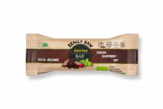Jorries bar - tyčinka čoko, malina 35g, BIO, RAW, bez lepku